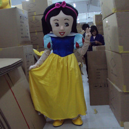 Wholesale Snow White Costume Mascot Fancy - New Snow White Mascot Costume Princess Dress Mascot Costume Christmas Clothing New Fancy Dress Suit Cartoon Clothing
