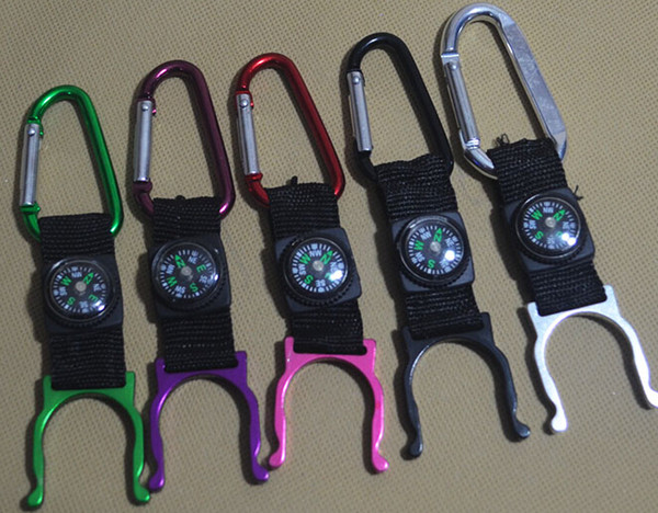 Moschettone catena portachiavi catena bollitore bussola termometro escursionismo campeggio all'aperto viaggio