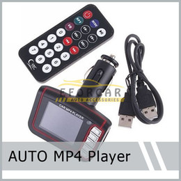 """Wholesale mp3 sd mmc - 1Set 1.8"""" LCD Car MP4 MP3 Player Wireless FM Transmitter SD MMC card slot Infrared Remote Multi-languages free Shipping"""