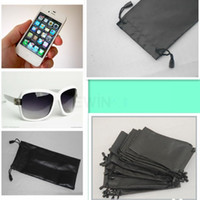 Wholesale Mp4 Leather Case - High quality 30 X GLASSES SUNGLASSES MOBLIE PHONE CASE POUCH DRAWSTRING MP3 MP4 3D GLASSES FREE SHIPPING