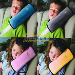 Cinto de segurança abrange crianças on-line-Auto Carro Travesseiro Do Bebê Cinto de Segurança Travesseiro Protetor de Ombro Capa Almofada Protetor Ajustar Assento Do Veículo Assorted Cores Cinto Almofada para Crianças
