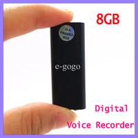 reproductor de mp3 de oro al por mayor-Pocket 4GB 8GB Mini REC USB Audio digital Audio Grabadora de voz Reproductor de música MP3