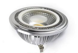 9W AR111 COB LED holofotes G53 lâmpada de luz 85-265V branco quente fresco branco CE ROSH 2 anos de garantia de iluminação interior 9 Watt frete grátis em Promoção