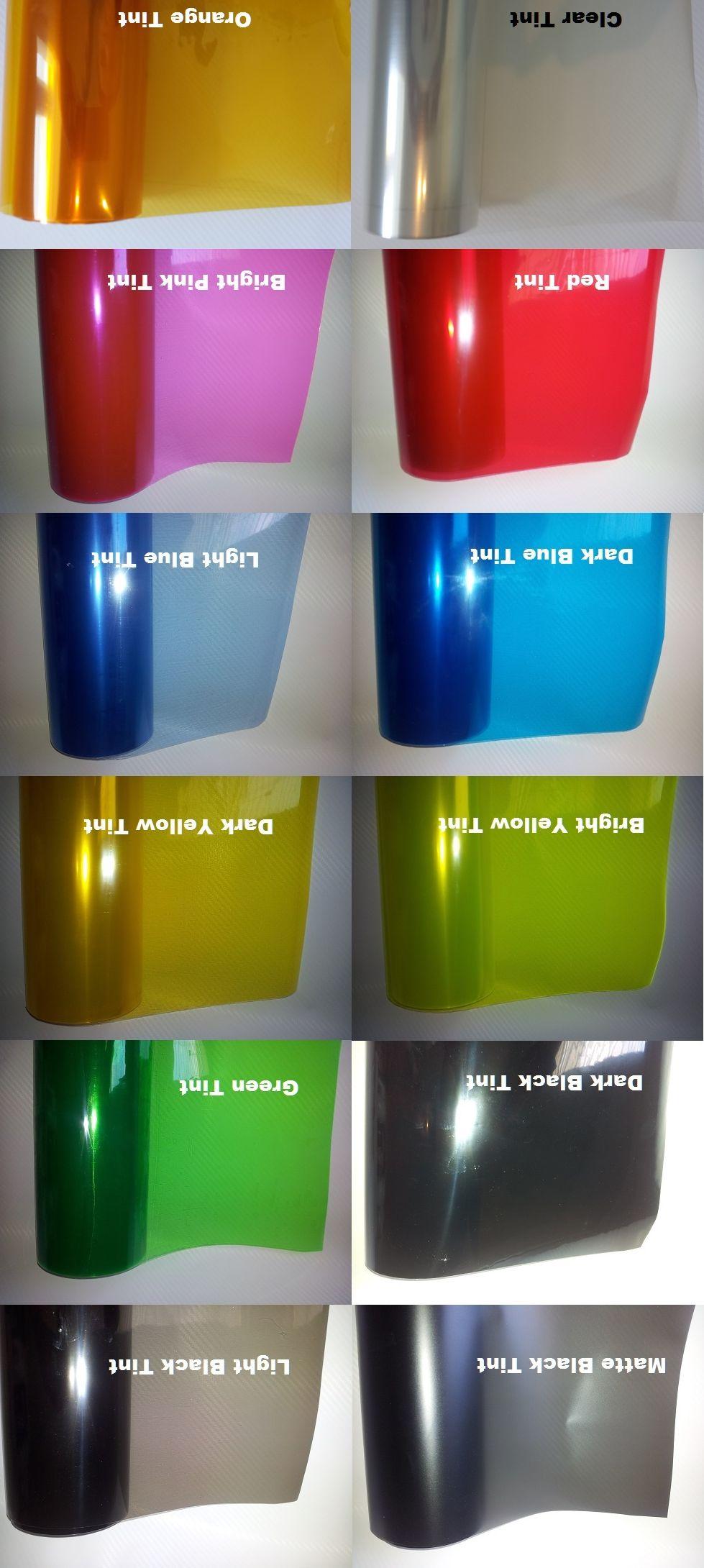 Headlight Tailight Fog Light Film Vinyl wrap Headlamp Tinting sticker Various colors 0.3m x 10m/roll by Express