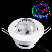Wholesale Dj Lights Sound Activated - New Arrival Ceiling Stage Light RGB Light 3W LED Rotating Stage Light 3W LED Effects Full Color Voice-Activated DJ Disco Ceiling Light Lamp