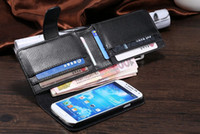 Wholesale Galaxy S3 Layer - Double Dual Layer With 7 Card Holder + Photo Frame Business Style Flip Wallet PU Leather Multifunction Case Bag for Samsung Galaxy S3 S4 S5