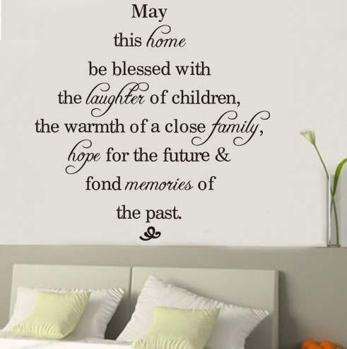 May This Home Be Blessed Vinyl Wall Decals Quotes Sayings Words Art ...