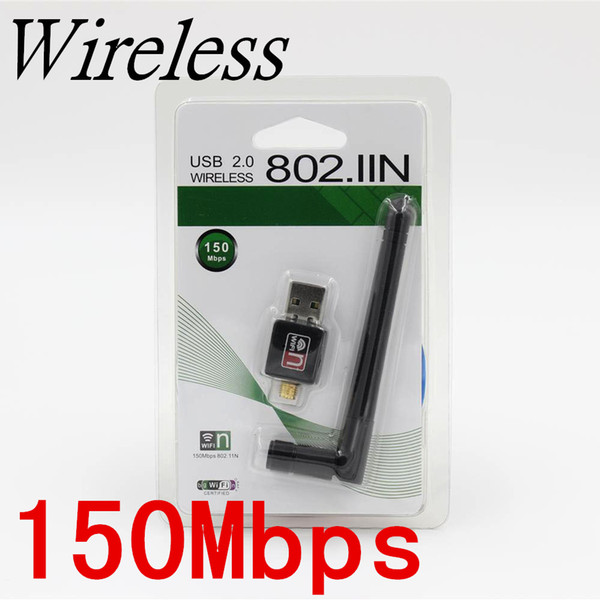 802.11n//g//b 150Mbps Mini USB WiFi Wireless Adapter Network LAN Card Antenna