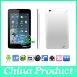 Phablet Inch 3g Phone Call Canada - Phablet 7 inch MTK8382 quad Core tablet pc Dual SIM Dual Camera 512M 8G 3G phone call tablet GPS 002390