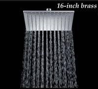 "Wholesale Rainfall 16 - New Chrome Finish 16"" Solid Brass Shower Head Rainfall Shower Sprayer"