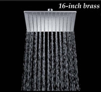 "New Chrome Finish 16"" Solid Brass Shower Head Rainfall ..."