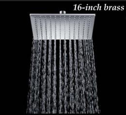 "Wholesale 16 Shower Head - New Chrome Finish 16"" Solid Brass Shower Head Rainfall Shower Sprayer"