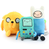 Wholesale Adventure Time Bmo Plush - 3 styles Cartoon Adventure Time with Finn and Jake Plush toy Jake and Finn & friend game machine BMO Stuffed dolls super cute gift
