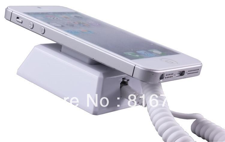 Wall Mounted Cell Phone Security Exhibition Anti-theft Display Alarm Retail Stand holder with charge function, remote control
