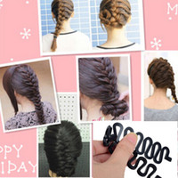 Wholesale Hair Bun Braided - Fashion French Hair Braiding Tool Roller With Magic hair Twist Styling Bun Maker Free Shipping[JH03013*1]
