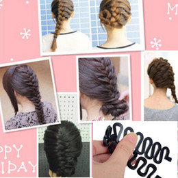 Wholesale Hair Tool Buns - Fashion French Hair Braiding Tool Roller With Magic hair Twist Styling Bun Maker Free Shipping[JH03013*1]