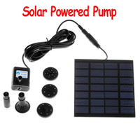 Wholesale Garden Fountain Pumps - Submersible Pond Pool Water Cycle Garden Plants Watering Kit Solar Power Fountain Soar Pump Water Pump Aquarium Pumps H4009