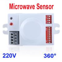 Wholesale Light Sensor Switch Module - Microwave Motion Sensor Switch Doppler Radar Wireless Module for Lighting 220V 360 Degree 5.8GHz H9623