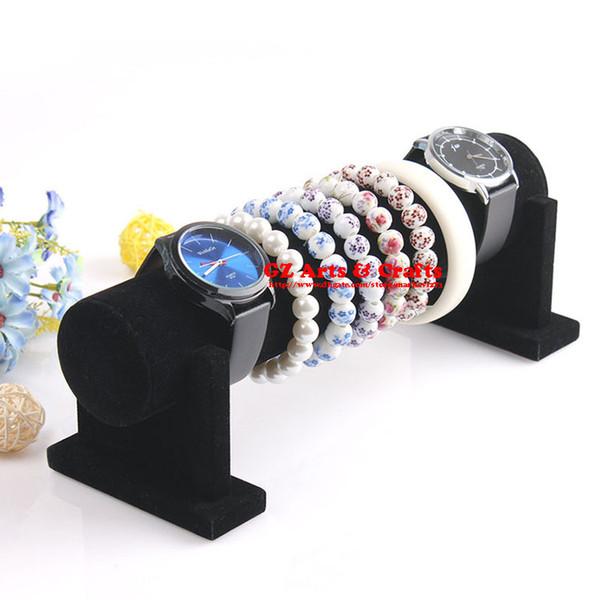 Top Grade terciopelo negro brazalete de la pulsera titular de la pulsera brazalete reloj soporte de exhibición de la joyería