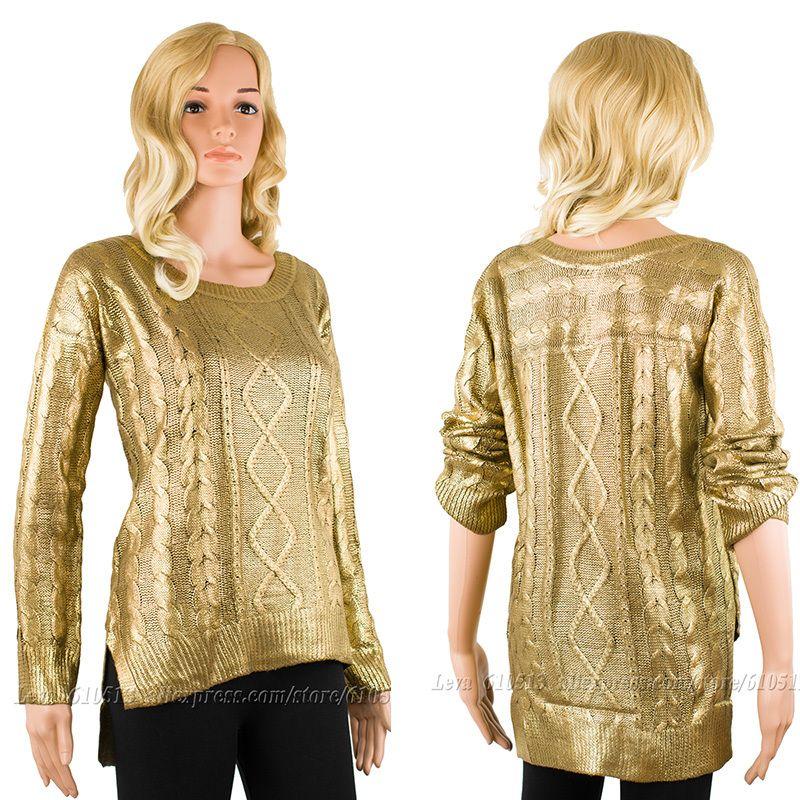 2018 Swimwear 2014 New Fashion Bronzing Women Pullover Gold ...