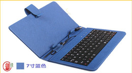 Wholesale Android A13 Keyboard - Leather case with USB keyboard for 7 inch Epad Android Table PC A23 A13 Samsung Galaxy tab 7.0 Google Nexus 7
