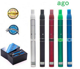 Wholesale New Ago G5 - AGO Smoke Dry Herb Vaporizer G5 dry herb pen clearomizer electronic cigarette LCD display battery 2014 510 thread ego 650mah brand new