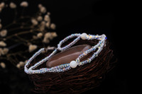 Women's spark element - swarovski elements barefoot sandals sparking crystal beach wedding anklet chain slave anklet chain foot jewelry