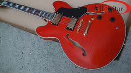 Wholesale hollow body electric guitar 335 - Bright Red 335 Guitar semi hollow body Electric Guitar HOT SALE