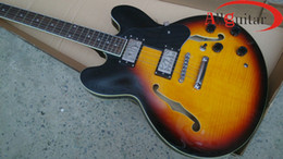 Wholesale Sunburst 335 - Sunburst 335 Guitar Semi hollow Body guitar China guitar HOT