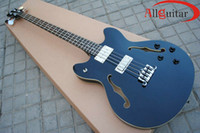 Wholesale Guitar Length - JAZZ 335 BASS black Hollow body Scale Length 34'' 864 mm China Electric Bass HOT
