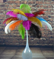 """Wholesale Large Ostrich Plumes - New Arrival 55-60 CM  22-24"""" Large Ostrich Feather Plume DIY Craft For Christmas Wedding Party Table Decoration AA Grade"""