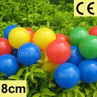 Wholesale Balls For Pit - 8mm Top quality CE approved plastic kids ocean ball for Tents or swimming pool 50pcs per lot with 5 colors Children toy ball pits