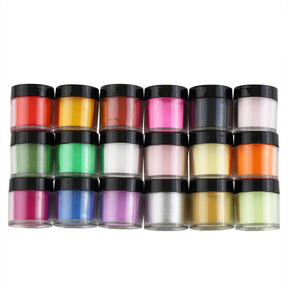 Toptan Sıcak Satış 18 ADET Akrilik UV Lehçe Kiti Süslemeleri Manikür Toz Nail Art Seti Ücretsiz Shipping407