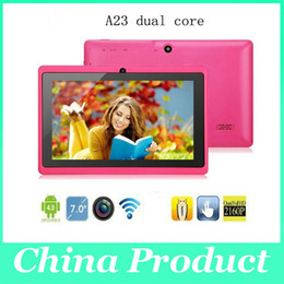 7 Wifi Tablet Australia - A23 dual core Q88 Android 4.2 Tablet PC 7'' Capacitive 512MB DDR3 4GB by China-product 20pcs