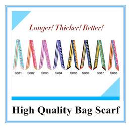 Wholesale Scarf Handbag Wholesaler - 2014 Excellent Quality Bags Scarf Bag Headband Silk Twilly Scarf Handbag Scarves 8 Colors KW-SC001