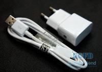 nota s3 al por mayor-cargador de pared + cable micro con el logotipo de samsung cable del cargador cable de datos de sincronización del adaptador de inicio para samsung s3 s4 s5 S6 nota 3 envío gratis 50 set