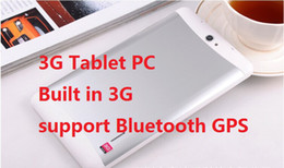 Wholesale 3g Mobile Tablet Pc - Phone call Tablet MTK6572 Tablet PC 7inch Capacitive screen Android 4.4 Mobile Phone call Build-in Bluetooth GPS DHL FREE