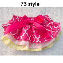 toddler ruffle bloomers Canada - Baby Cotton Ruffle Bloomers Baby Diaper Cover Newborn Flower printed satin Shorts Toddler Cute Summer PP Pants 73 style 2014 new arrivel