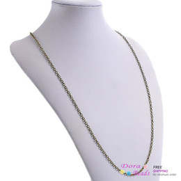 "Wholesale Long Bronze Chain - Ball Chain Necklaces Antique Bronze 76.2cm long(30""),12PCs (B26388)"