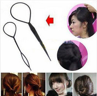 Wholesale Topsy Tool Hair Styles - 2014 Hot Sale Women Ladies 10 Pairs Lot New Topsy Tail Hair Braid Ponytail Styling Tool [JH03012*1]