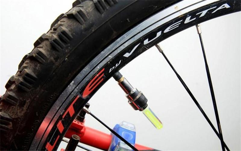 Hot Bike Light LED Wheels lamp Gas Nozzle Valve Lamp Mountain Bike Lamp LED Car Wheel Light Fly Light Fittings