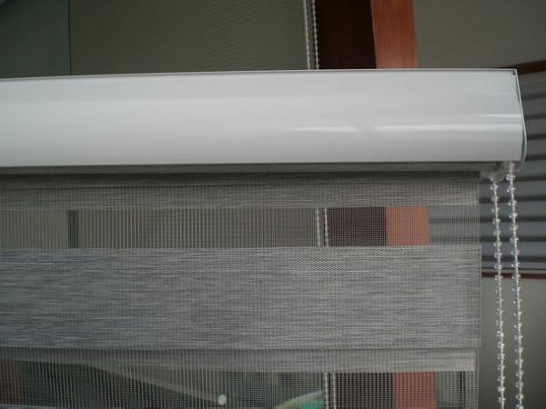 Roller Zebra Blinds/Light Filtering Sheer Shade in Grey Curtains for Living Room 32in*48in/81cm*121cm