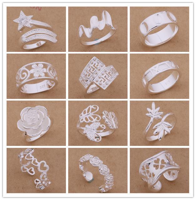 Gli ordini misti dell'argento sterlina di alta qualità 925 squilla la festa di Natale di stile di modo inviare i suoi regali della moglie / moglie trasporto libero /