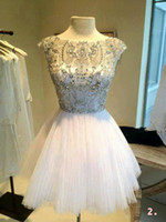 Wholesale Low Price Picture Lighting - 2017 New Arrival Real Sample Picture White Sexy Beaded Short Mini Low Price Grad Homecoming Dress Women Free Shipping JHD023