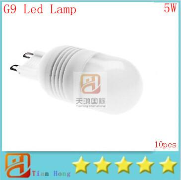 10x G9 5W Warm White (3000-3500K) Cool White (6000-6500K)Light Ceramic LED Spot Bulb (110V-220V)