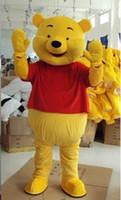 Wholesale Red Bear Mascot Costume - Winnie Bear Mascot Costume Winnie the Pooh Bear Cartoon Costumes Winnie Bear Cartoon clothing personality