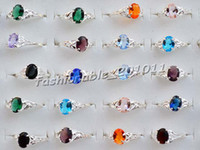 Wholesale Stamped Rings - lots jewelry 12pcs CZ zircon rhinestone S925(stamp) silver P ring FREE #R94