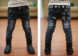 Wholesale Wild Child Clothes - New children's clothing boys wild baby jeans children trousers kids pants new Korean version
