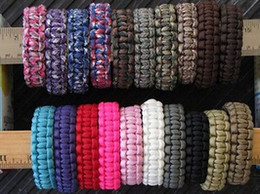 parachute cord bracelets Coupons - 120 colors you pick Self-rescue Paracord Parachute Cord Bracelets Survival Camping Travel Kit