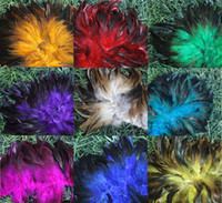 Wholesale Mixed Feathers For Hair - 500pieces Mix Colors Natural Hair Accessoires 10-15cm Rooster Feather For Party Decor Hand Manual Mask Clothes Accessories